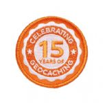 15 (Fifteen) Years of Geocaching Official Patch